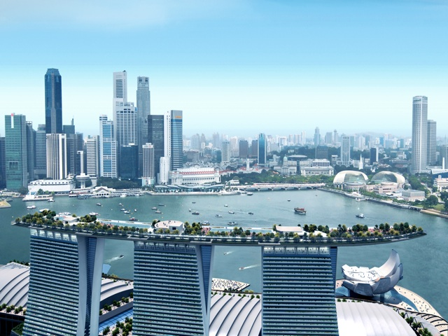 Sands skypark to redefine singapore skyline senatus for Hotel singapur piscina
